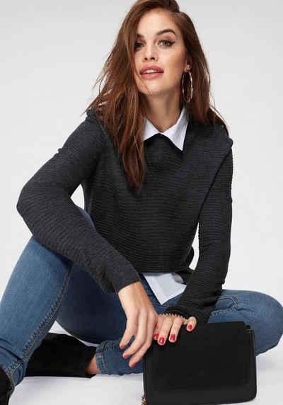 3520aeed74c0 2-in-1 Pullover für Damen » Pullover mit Bluseneinsatz kaufen   OTTO
