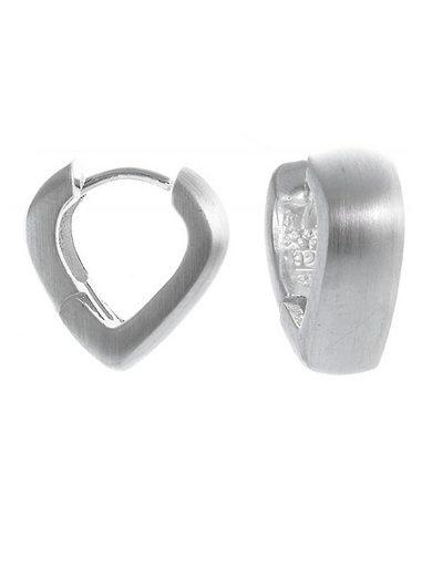 Adelia´s Paar Creolen »925 Sterling Silber Ohrringe - Creolen spitz mattiert«, 925 Silber mattiert