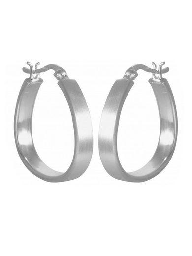 Adelia´s Paar Creolen »925 Sterling Silber Ohrringe - Creolen Dreieck mattiert« 925 Silber mattiert