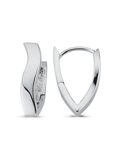 Adelia´s Paar Creolen »925 Sterling Silber Ohrringe - Creolen«, 925 Silber poliert