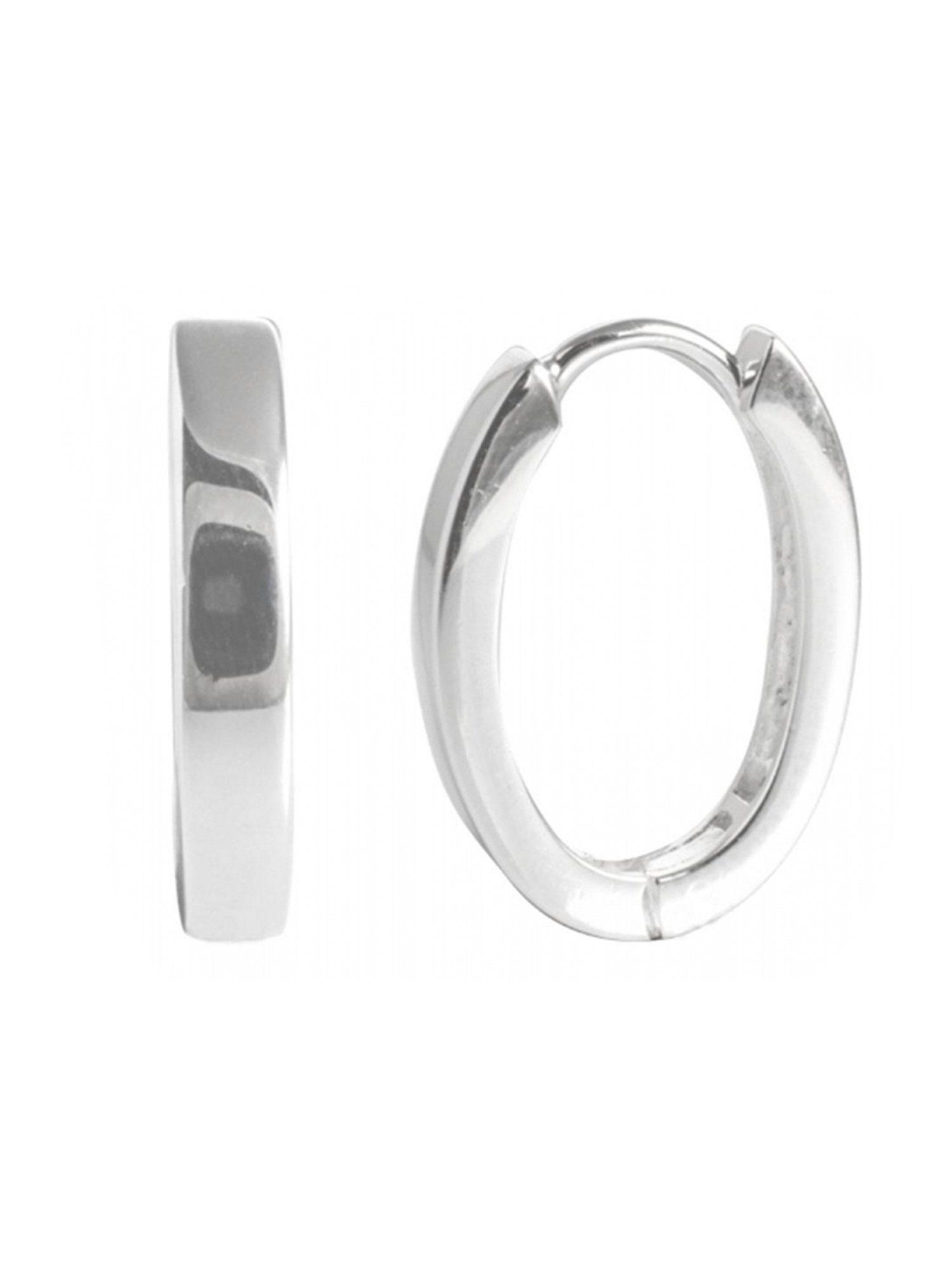 Adelia´s Paar Creolen »925 Sterling Silber Ohrringe - Creolen Oval« 925 Silber poliert