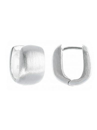 Adelia´s Paar Creolen »925 Sterling Silber Ohrringe - Creolen Leon mattiert«, 925 Silber mattiert