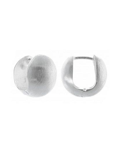 Adelia´s Paar Creolen »925 Sterling Silber Ohrringe - Creolen Lilia mattiert«, 925 Silber mattiert