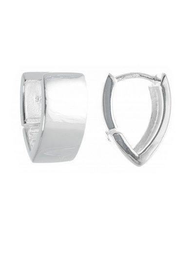 Adelia´s Paar Creolen »925 Sterling Silber Ohrringe - Creolen Luzon poliert«, 925 Silber poliert