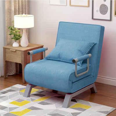 Masbekte TV-Sessel »Daybett, Relaxsessel«, 3 in 1 Schlafsessel, Schlafsofa, verstellbare Rückenlehne, Fernsehsessel mit Kissen und gepolsterter Sitz, klappbarer