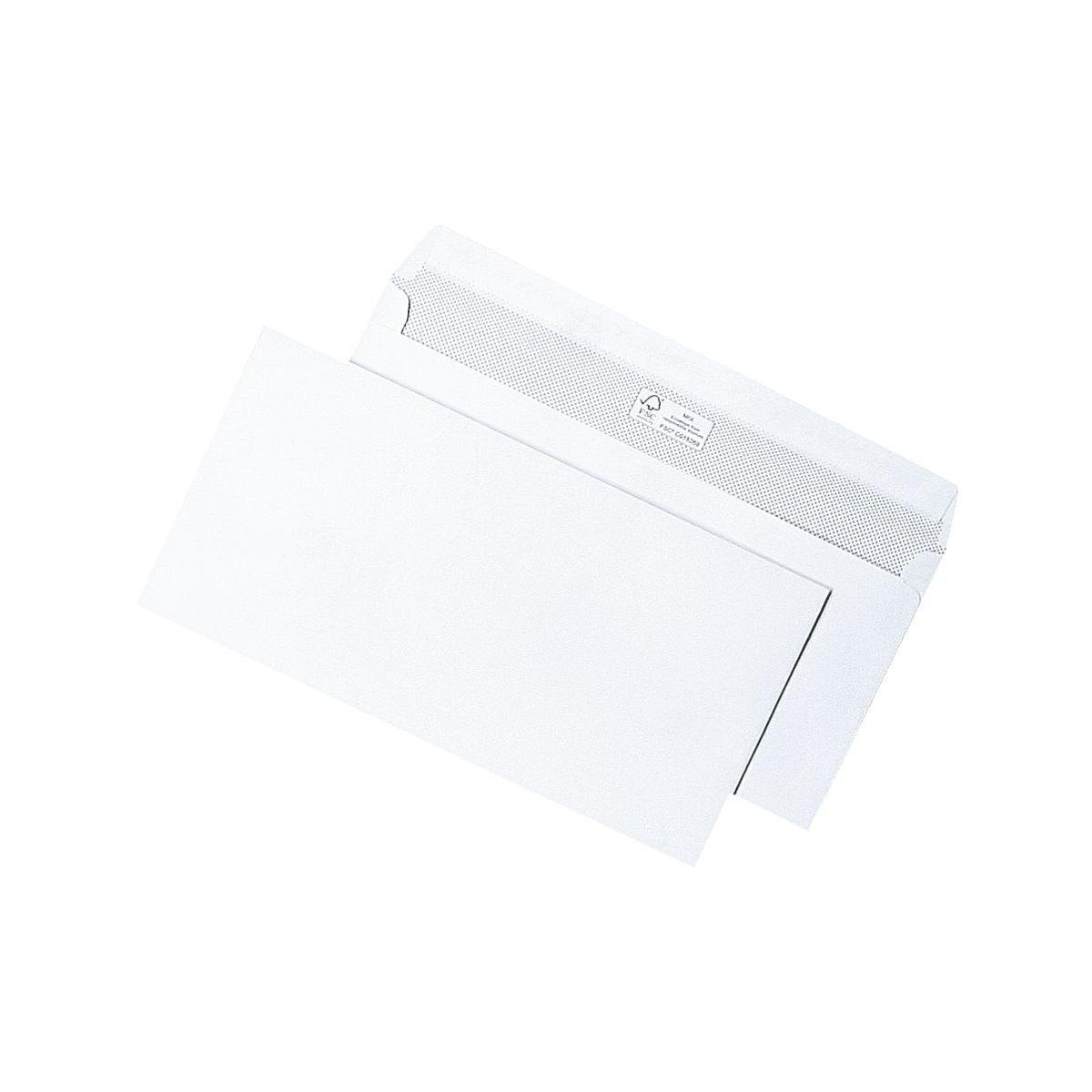 Mailmediade Briefumschläge DL ohne Fenster mit Haftklebung - 500 St...