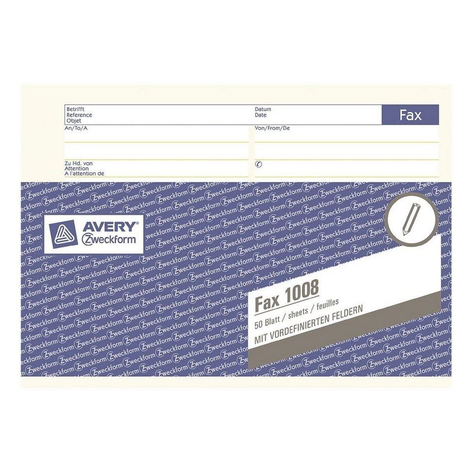 Avery Zweckform Formularvordrucke »Fax-Vordruck«