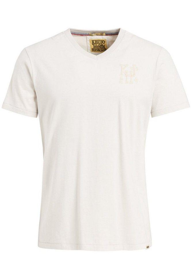 khujo -  T-Shirt »PACE« kurzem V-Ausschnitt