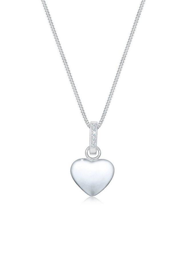 Diamore Collierkettchen »Panzerkette Herz Diamant (0.05 ct) 925er Silber«   Schmuck > Halsketten > Panzerketten   Diamore