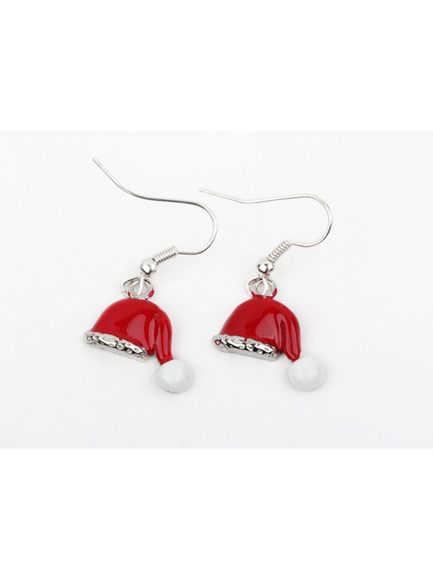 Adelia´s Paar Ohrhänger »Weihnachtsmütze Nikolaus Mütze« Weihnachtsschmuck