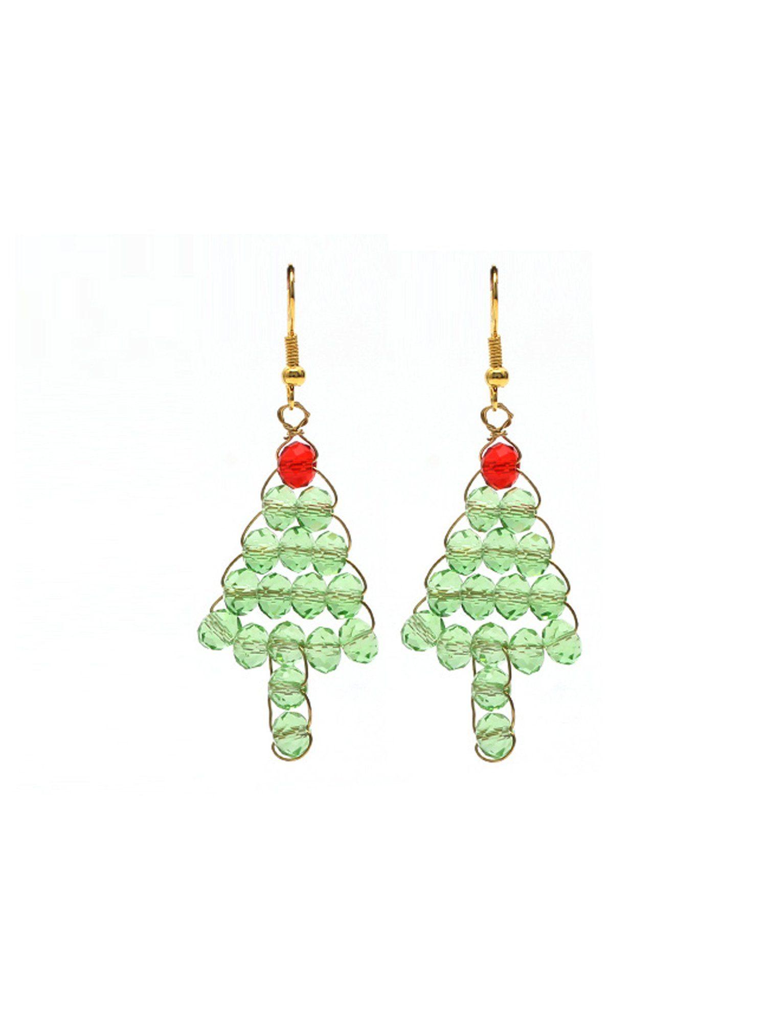 Adelia´s Paar Ohrhänger »Weihnachtsbaum« Weihnachtsschmuck