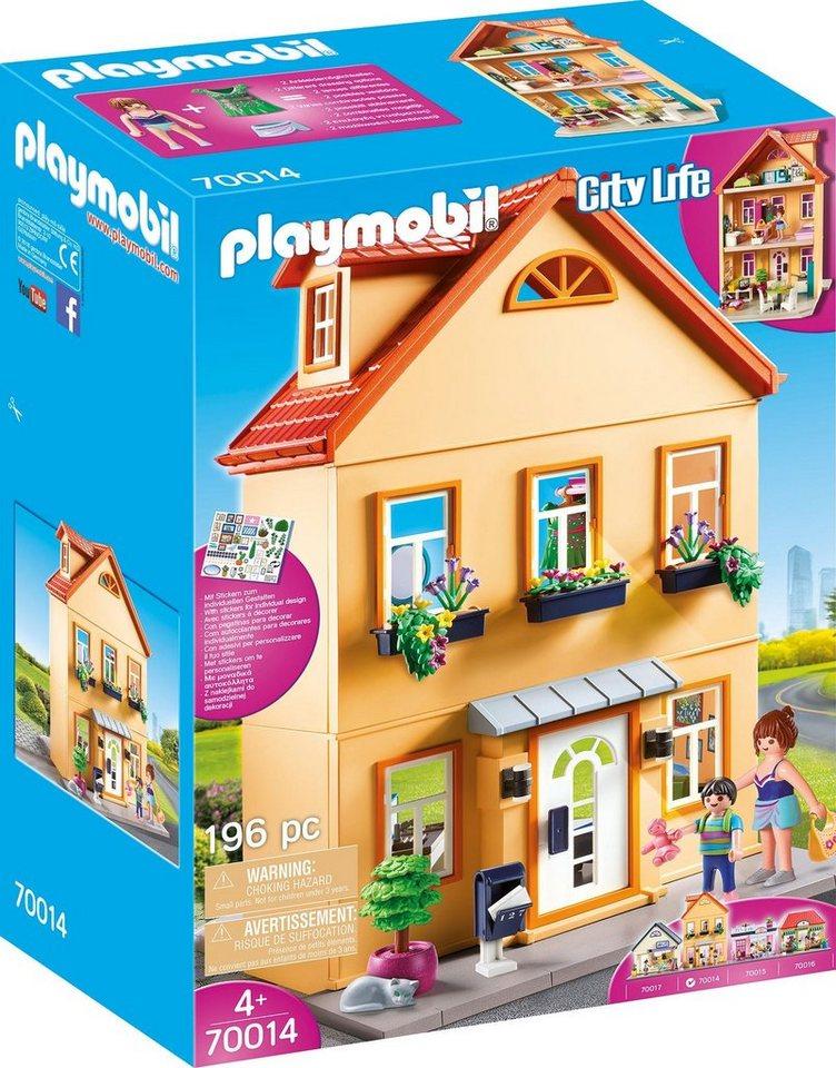 playmobil® konstruktionsspielset »mein stadthaus 70014