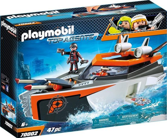 Playmobil® Konstruktions-Spielset »Spy Team Turboship (70002), Top Agents«, Made in Germany