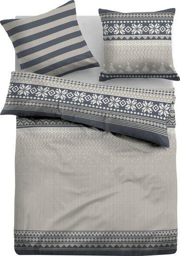 Bettwäsche »Kristian«, TOM TAILOR, im winterlichen, gestrickten Design