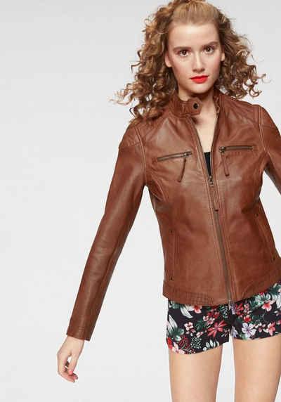 Damen Lederjacke in braun online kaufen   OTTO 8669d81af3