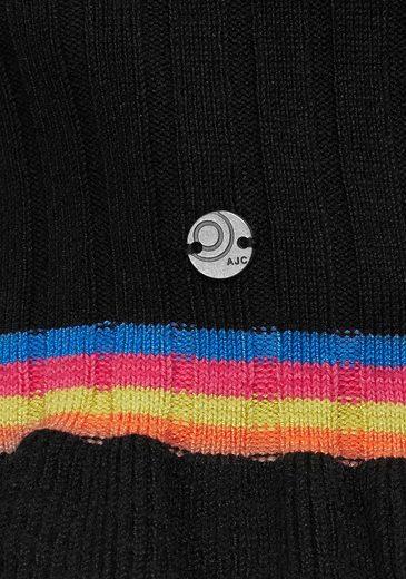 Cardigan Rüschensaum Regenbogendetail Mit amp; tlg 1 Ajc wSna1q66