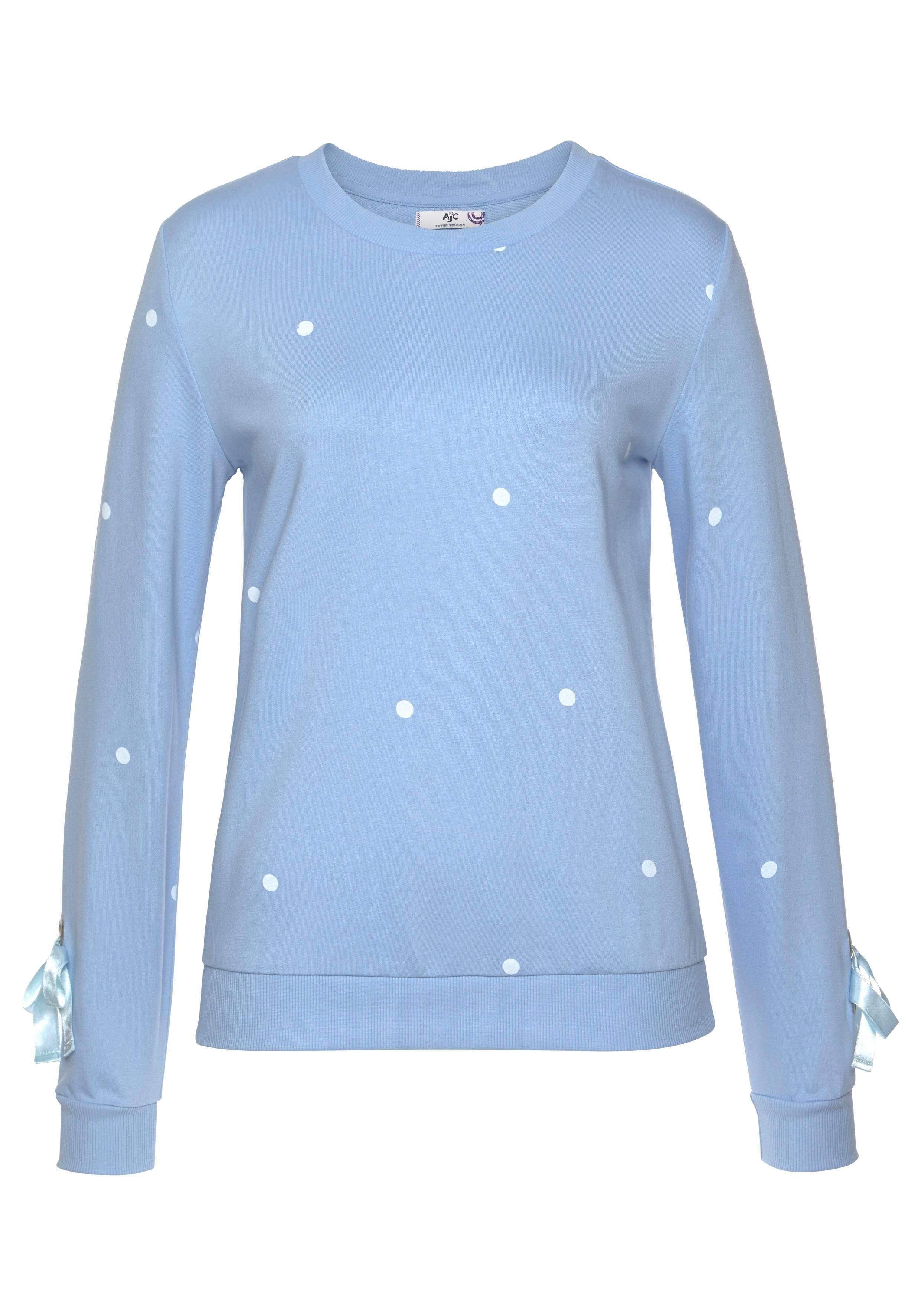 AJC Sweatshirt mit Punkte Print und Schleifendetail am Ärmel online kaufen | OTTO