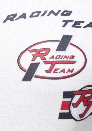 Ajc Racing Am Mit Reißverschluss print Tanktop Ausschnitt amp; FFr7gwq