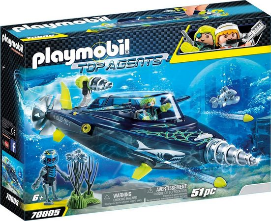 Playmobil® Konstruktions-Spielset »Team S.H.A.R.K. Drill Destroyer (70005), Top Agents«, Made in Germany