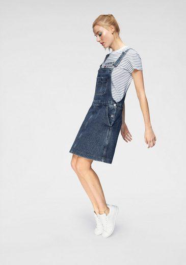 Großer Brusttasche Latzkleid Jeans Tommy Mit RxqtwF6