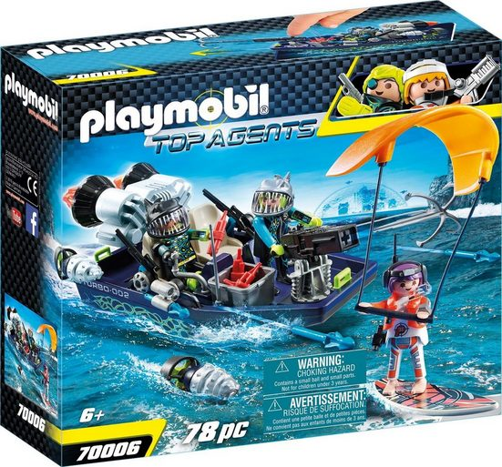 Playmobil® Konstruktions-Spielset »Team S.H.A.R.K. Harpoon Craft (70006), Top Agents«, Made in Germany