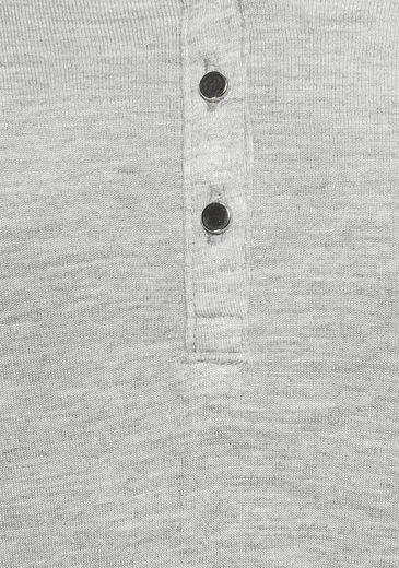 AJC Langarmshirt mit Knopfleiste
