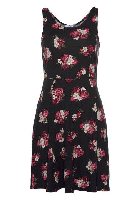 AJC Sommerkleid in Skater-Style mit Blumenmuster   Bekleidung > Kleider > Sommerkleider   AJC