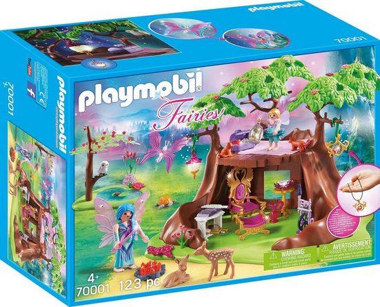 Playmobil® Konstruktions-Spielset »Waldfeenhaus (70001), Fairies«, Made in Germany