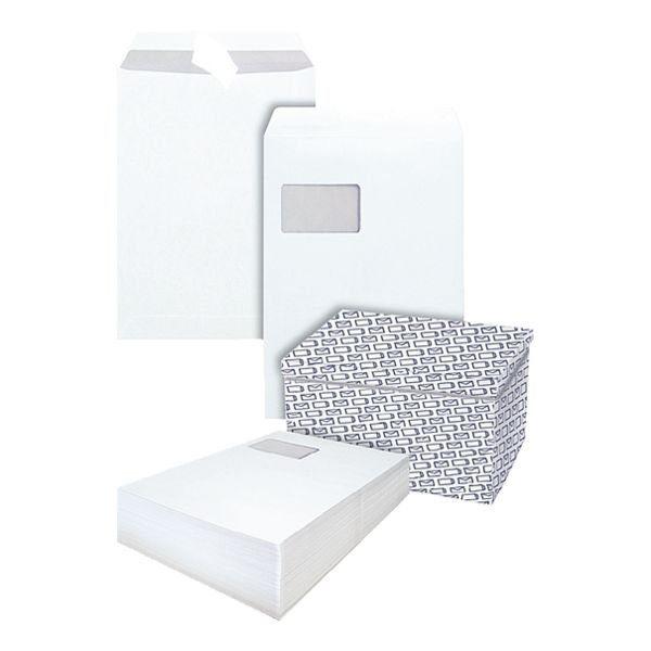 Steinmetz 400 Versandtaschen mit Aufbewahrungsbox C4 mit Fenster