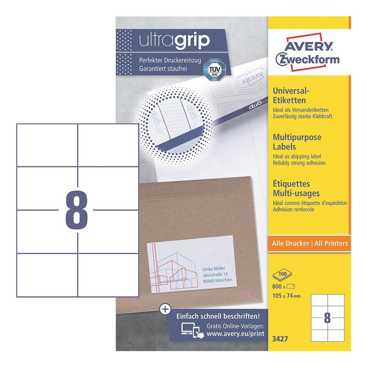 Avery Zweckform 800er-Pack Universal Klebeetiketten »3427«