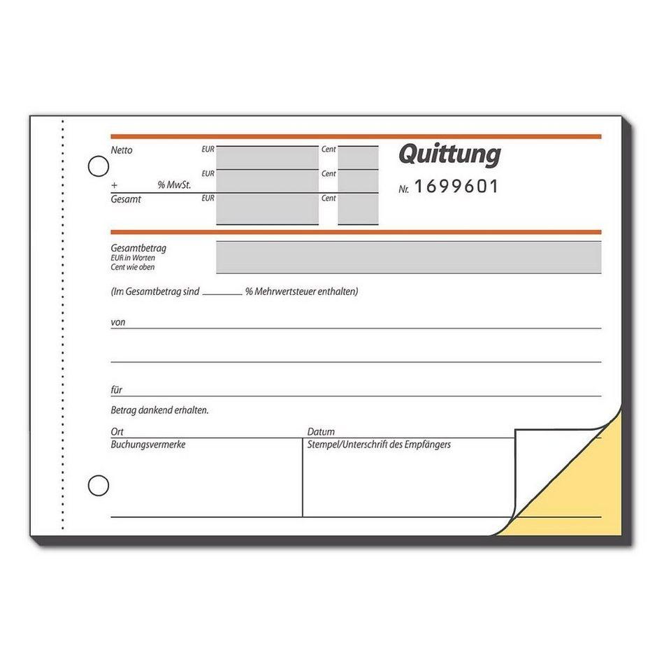 Sigel Formularbuch »Quittung inkl. MwSt.«