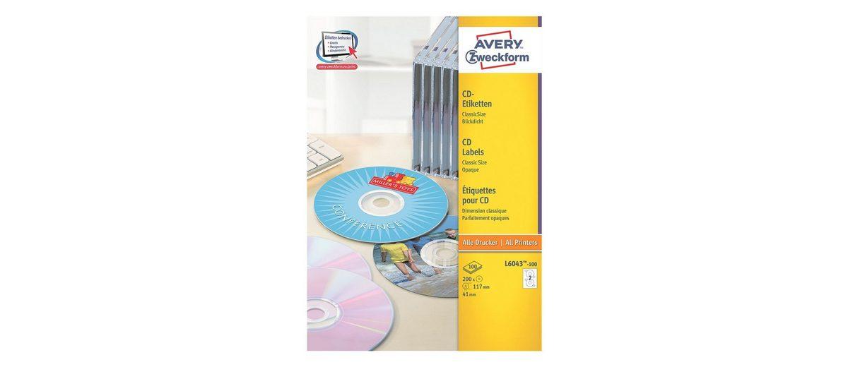 Avery Zweckform 100er-Pack CD-/DVD-Label »L6043-100«