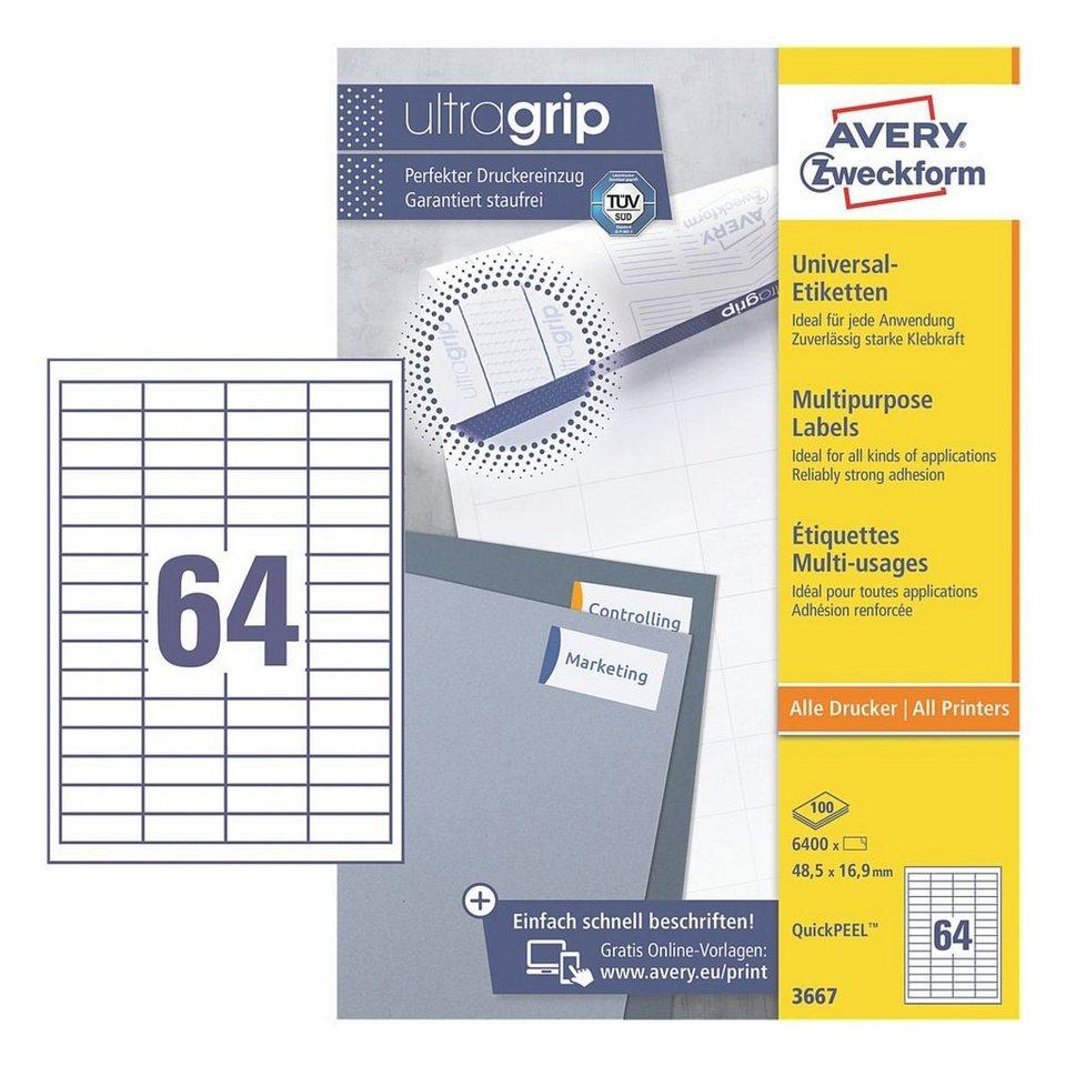 Avery Zweckform 6400er-Pack Universal Klebeetiketten »3667«