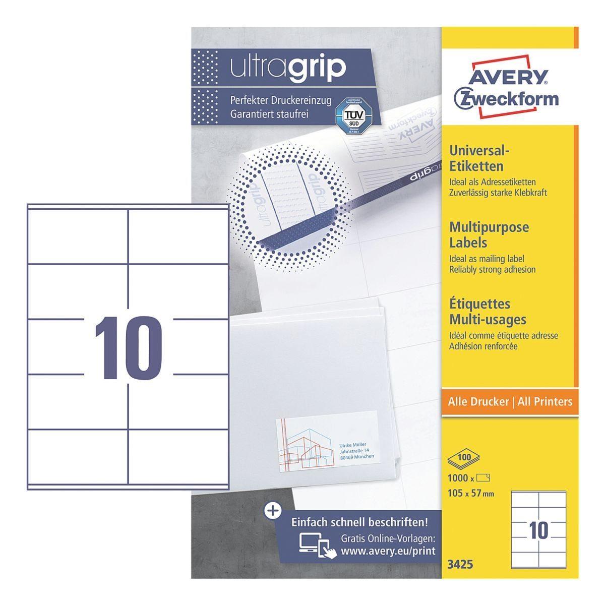 Avery Zweckform 1000er-Pack Universal Klebeetiketten »3425«