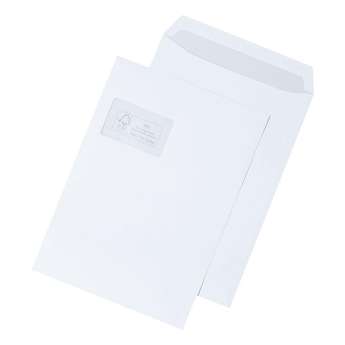 Mailmedia Briefumschläge C4 mit Fenster und Haftklebung