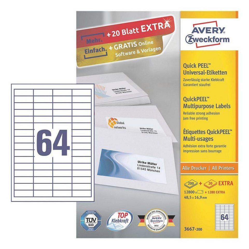 Avery Zweckform 12800er-Pack Universal Klebeetiketten »3667-200«