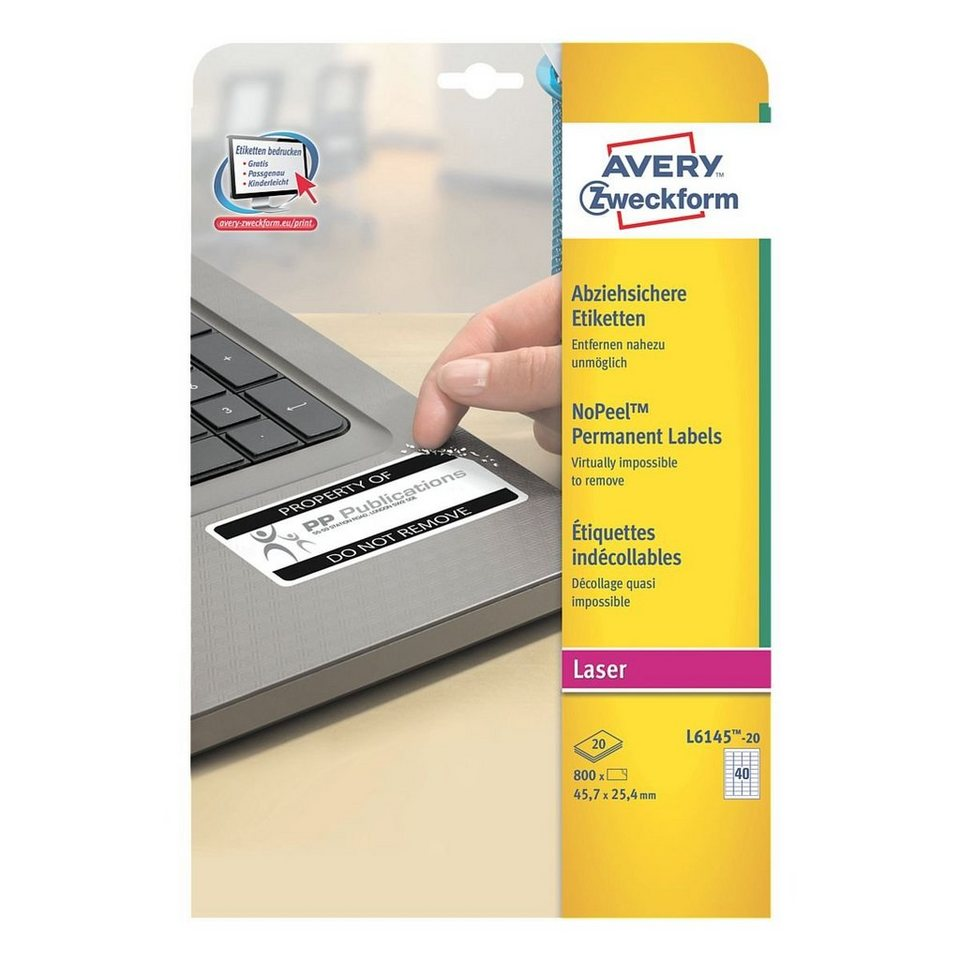 Avery Zweckform 800er-Pack Sicherheits-Etiketten »L6145-20«