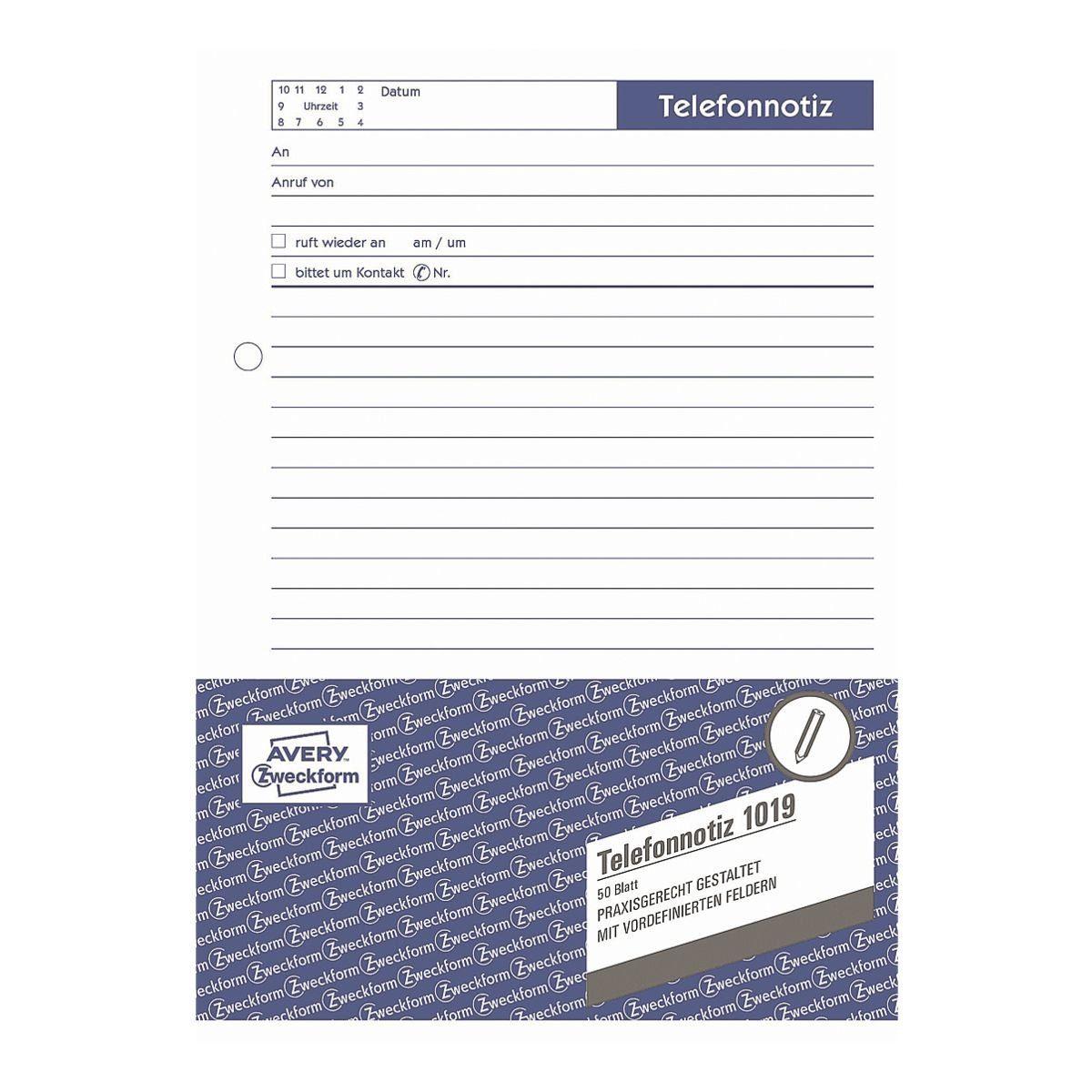 Avery Zweckform Formularvordrucke »Telefonnotiz«