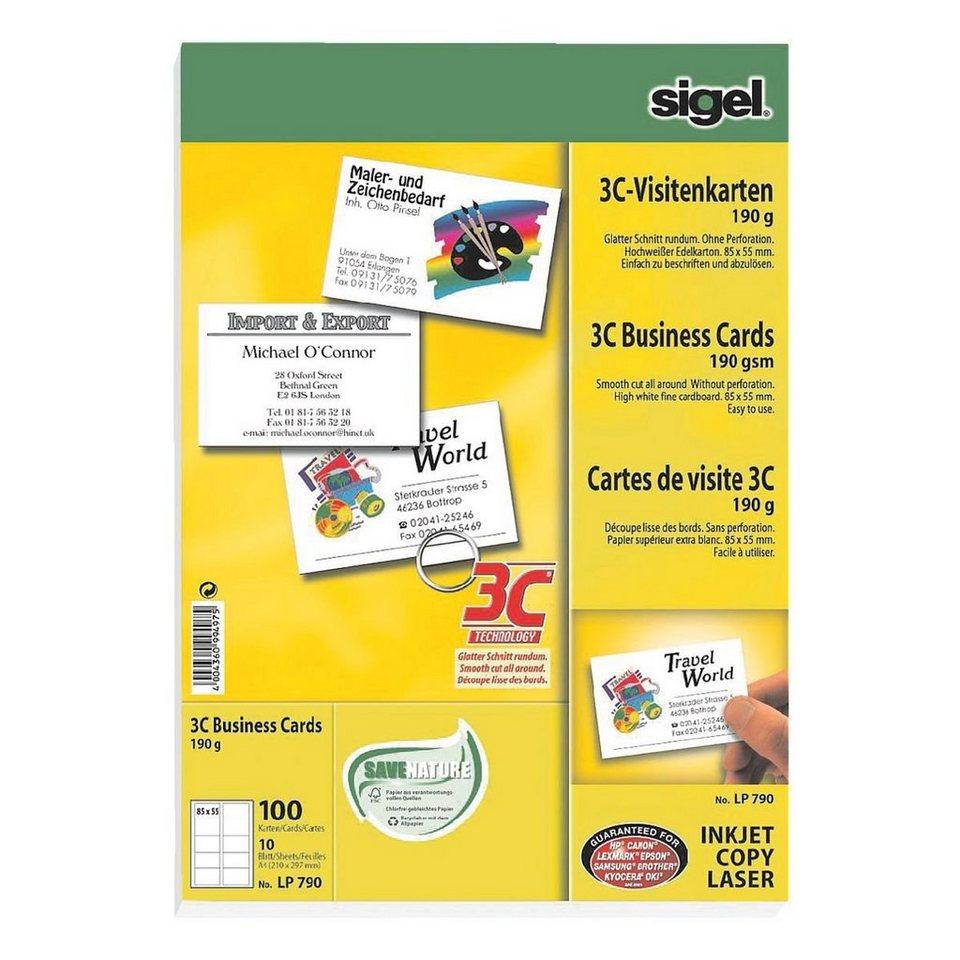 Sigel Visitenkarten Lp 790 Beidseitig Bedruckbar Nein Online Kaufen Otto