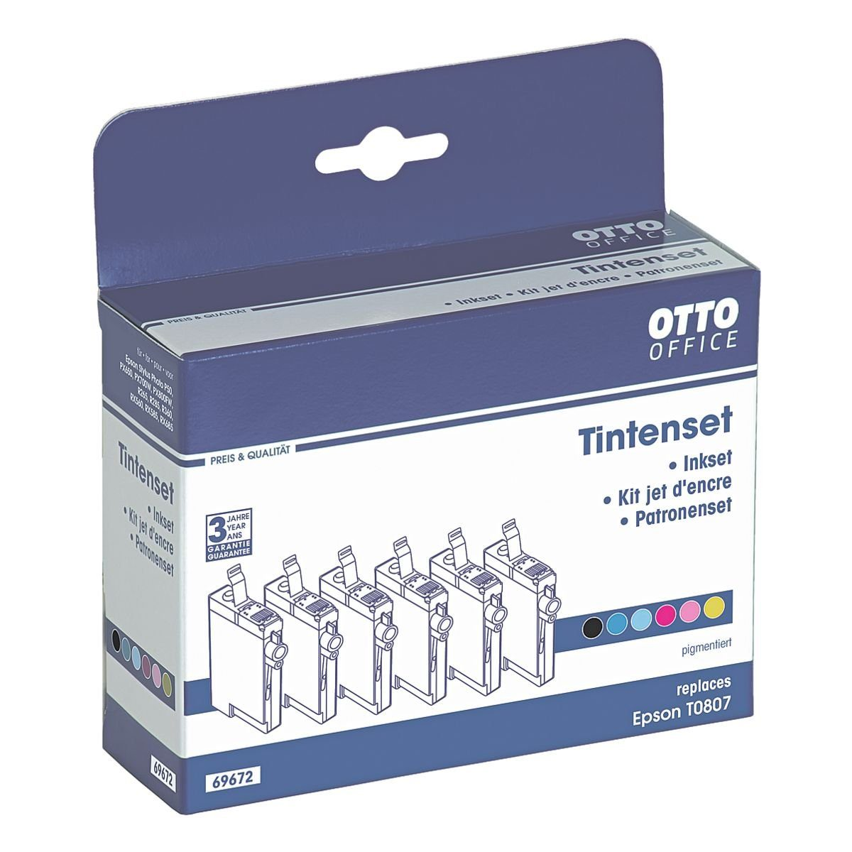 OTTO Office Standard Tintenpatronen-Multipack ersetzt Epson »T0807«