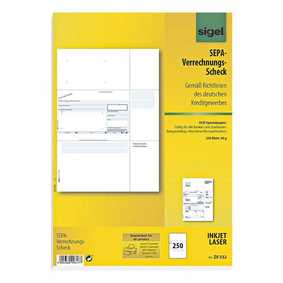 Sigel PC-Verrechnungs-Scheck