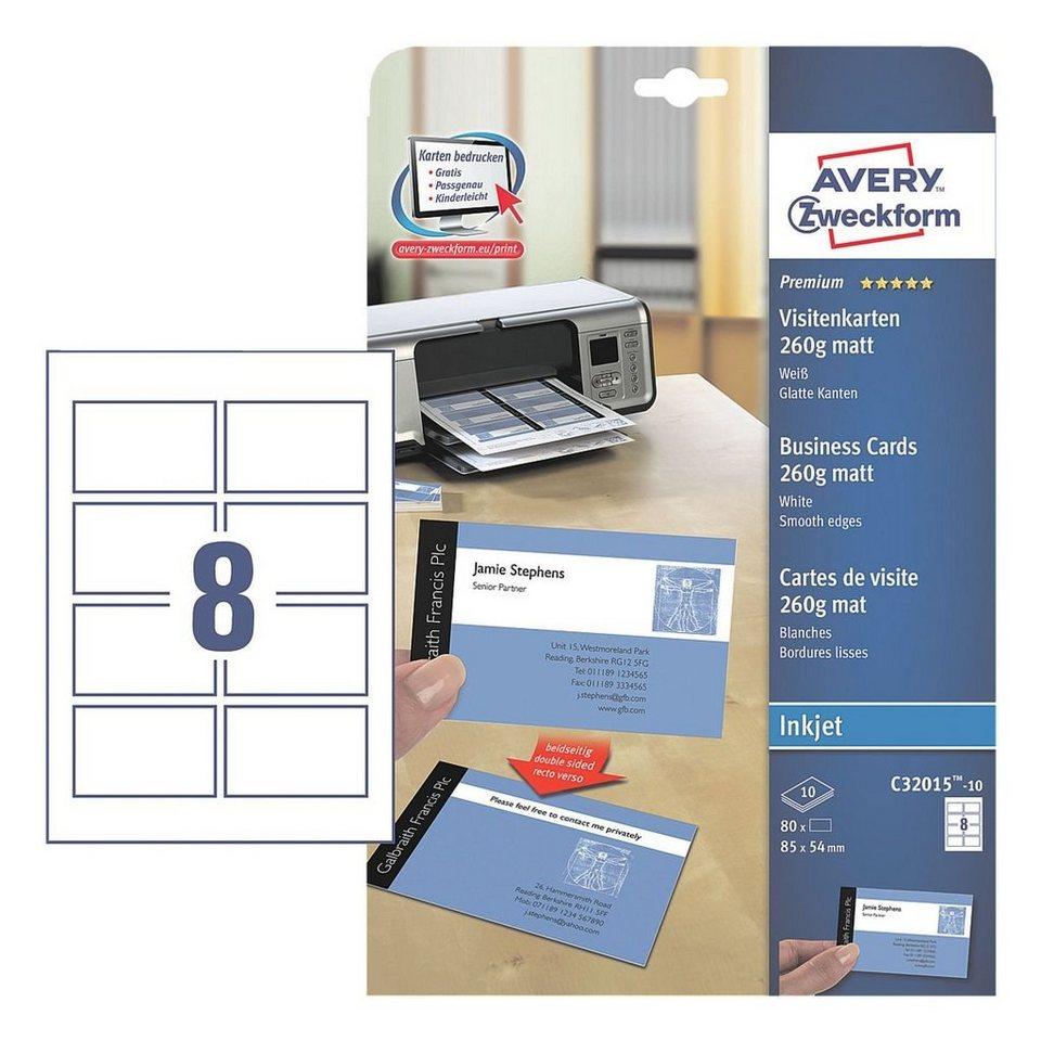 Avery Zweckform Visitenkarten C32015 10