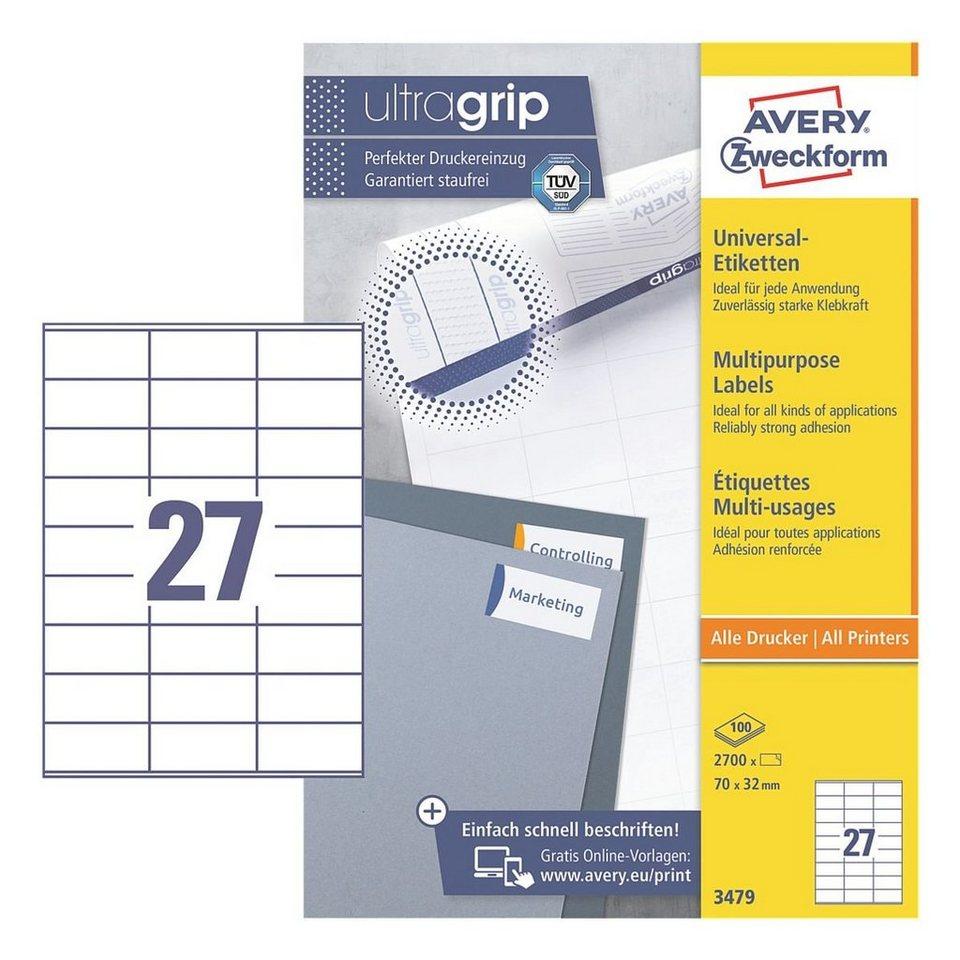 Avery Zweckform 2700er-Pack Universal Klebeetiketten »3479«