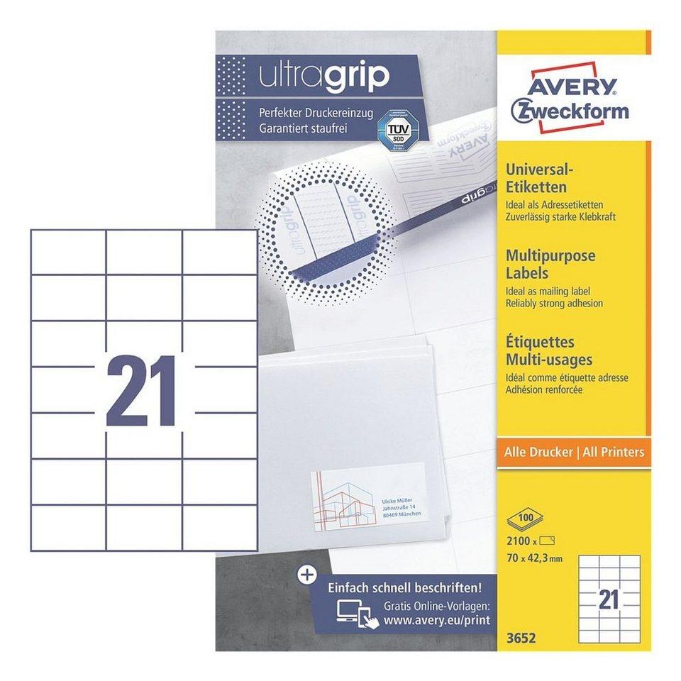 Avery Zweckform 2100er-Pack Universal Klebeetiketten »3652«