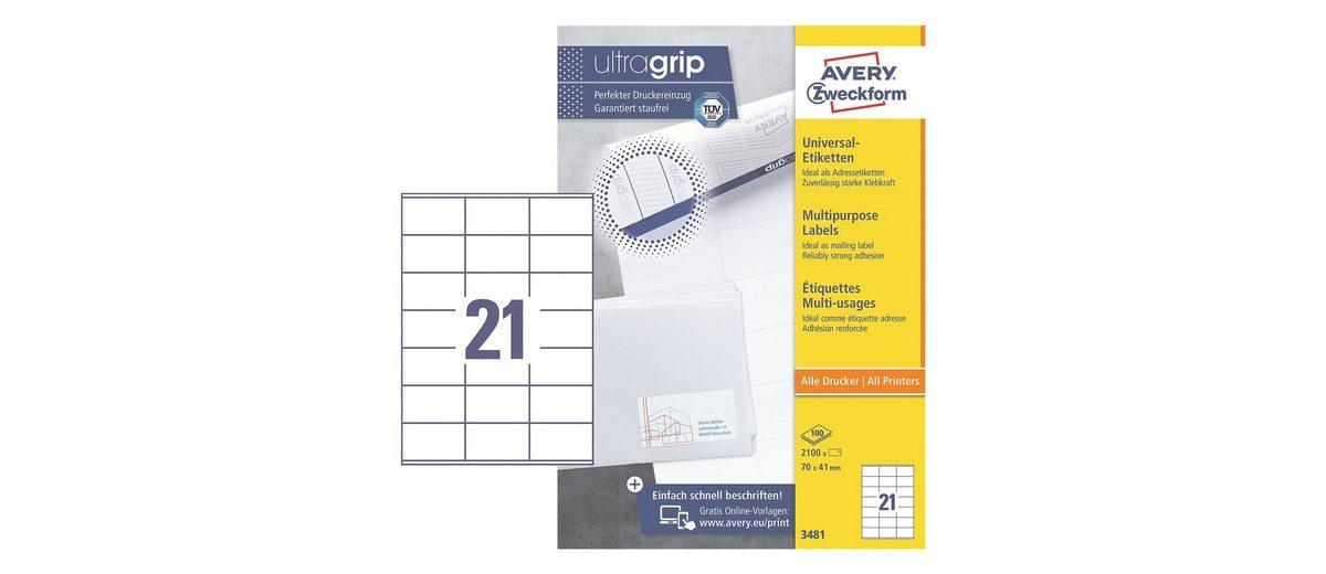 Avery Zweckform 2100er-Pack Universal Klebeetiketten »3481«