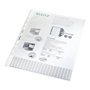 LEITZ Prospekthüllen A4 genarbt - 100 Stück »4704«
