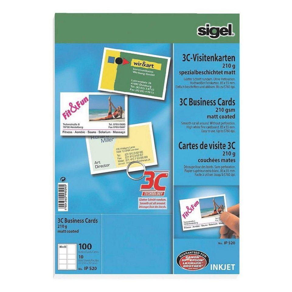 Sigel Visitenkarten Ip520 Beidseitig Bedruckbar Nein Online Kaufen Otto