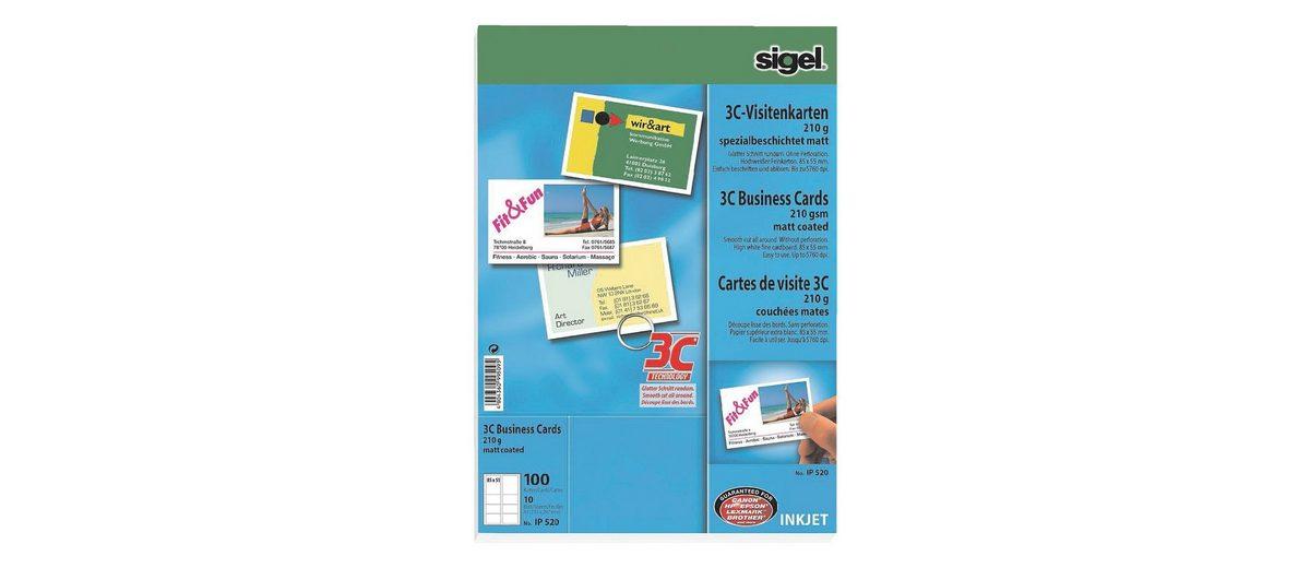 Sigel Visitenkarten