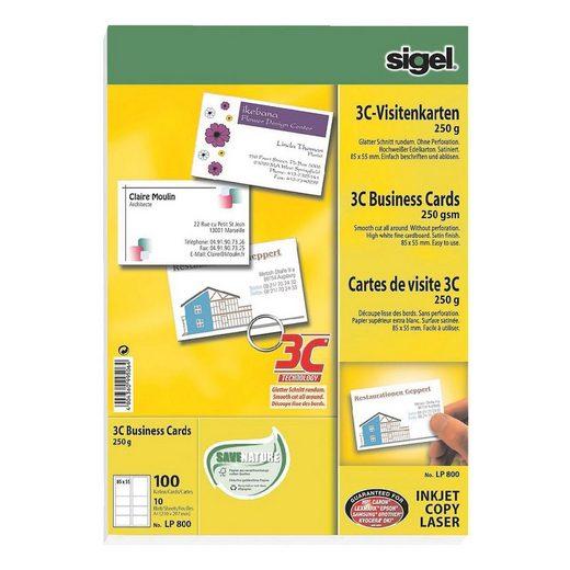 Sigel Visitenkarten LP800