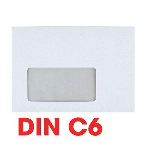 OTTOOFFICE STANDARD Briefumschläge C6 mit Fenster und Haftklebung - 1000 Stück